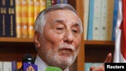 بهجت سلیمان، سفیر سوریه در اردن در کنفرانس خبری در امان - ۲۲ مه