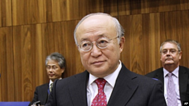 Director General of the International Atomic Energy Agency, IAEA, Yukiya Amano of Japan waits for the start of the IAEA board of governors meeting at the International Center, in Vienna, Austria, November 17, 2011.