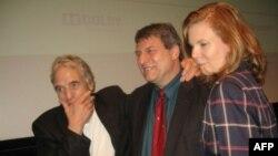 Режиссер Абель Феррара, Ричард Пенья и актриса Шэнин Ли на премьере фильма «4:44. Последний день на Земле».