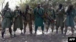 Photo prise à partir d'une video. Le leader de Boko Haram, Abubakar Shekau, serait au centre. 5 mars 2013