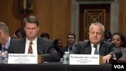 دو مقام ارشد وزارت خارجه و دفاع در جلسه کمیته سنا حضور یافتند.