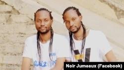 Max Nsenga Ntumba et Percé Muamba Ntumba, les deux jumeaux rappeurs du groupe Noir Jumeaux ou Jum Black.