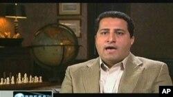 ຮູບນັກວິທະຍາສາດ Shahram Amiri ທີ່ທາງການອີຣ່ານວ່າ ຖືກລັກ ພາໂຕໂດຍ ສາຍລັບ ສະຫະລັດ ຈາກໂທລຸະພາບອີຣ່ານ (8 ມິຖຸນາ 2010)