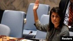 美國常駐聯合國代表妮基·黑利(資料照)