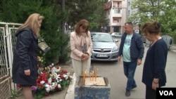 """Okupljanje ispred prostorija GI """"SDP Oliver Ivanović"""" povodom 16 meseci od ubistva Olivera Ivanovića"""