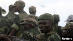 Wanajeshi wa jeshi la Congo wakiwa kwenye mji wa Goma, DRC, December 3, 2012.