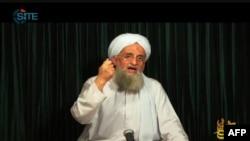 Ayman al-Zawahiri, dans une vidéo diffusée par As-Sahab, obtenue avec l'aimable autorisation du Site Intelligence Group, le 26 octobre 2012.