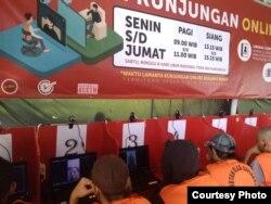 Rutan Cipinang membatasi keluar masuknya orang dengan mengganti layanan kunjungan keluarga dengan online-video call pada waktu yang dijadwalkan (foto: courtesy).