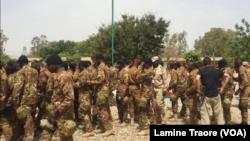 Exercice militaire Flintlock 2018 à Ouagadougou, le 11 avril 2018. (VOA/Lamine Traore)