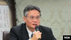 淡江大學戰略研究所教授 翁明賢(美國之音張永泰拍攝)