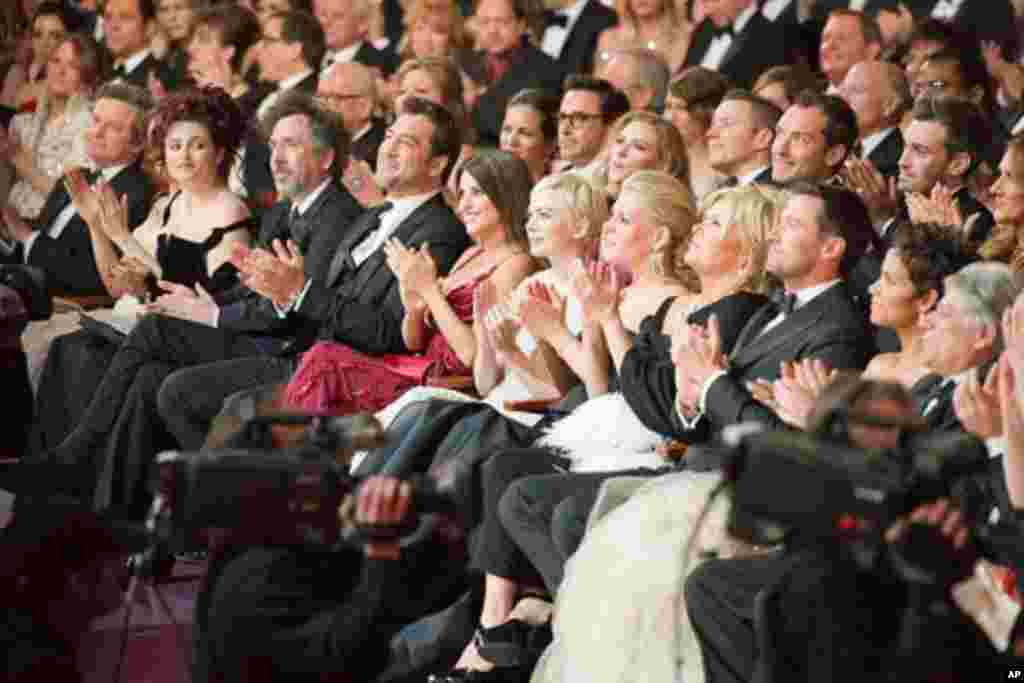 Oscar nominees in the audience