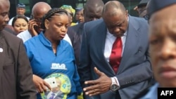 L'ancien vice-président congolais Jean-Pierre Bemba, après son atterrissage à l'aéroport international de N'Djili, à Kinshasa, 1 août 2018.
