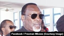 Aliyekuwa mbunge wa jimbo la Hai na kiongozi wa upinzani bungeni Freeman Mbowe.