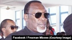 Uyu ni depite Freeman Mbowe, umuyobozi w'umugambwe Chadema