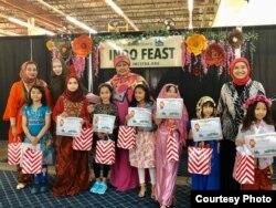 Lomba peragaan busana anak-anak di acara Indo Feast Halal Festival di San Jose, California (dok: Ake Pangestuti)