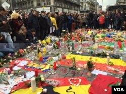 یادبود قربانیان حوادث تروریستی بروکسل