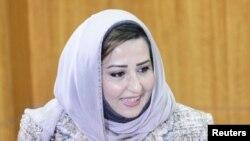 Kuwait's Minister of Social Affairs and Labour Thikra al-Rashidi in Kuwait City (2012 photo)