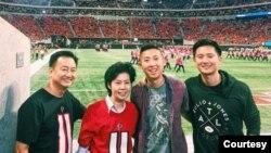 Daniel Fu bersama keluarga tidak pernah menyangka akan ada sentimen anti-Asia di Atlanta. (Foto: Pribadi)