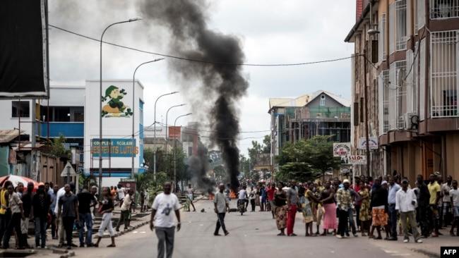En images : manifestations en RDC contre Kabila