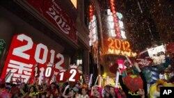 香港民眾慶祝新年。