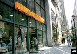 Shares were down 8.2 percent for Urban Outfitters, a Philadelphia-based retailer which targets 18- to 30-year-old shoppers.