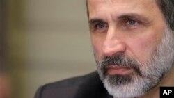 시리아 반정부 연합체 '시리아국만연합' 대표 무아즈 알카티브. (자료사진)
