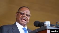 Le président sortant du Malawi, Peter Mutharika (Photo de L. Masina / VOA)