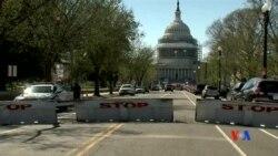 2016-03-29 美國之音視頻新聞: 美國警察在國會大廈開槍打傷一持槍男子