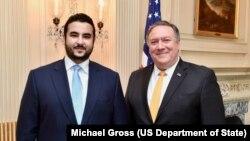وزیر خارجه آمریکا در واشنگتن با خالد بن سلمان معاون وزیر دفاع عربستان سعودی دیدار کرد.