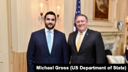 Госсекретарь США Майк Помпео и заминистра обороны Саудовской Аравии принц Халед бин Салман (архивное фото)