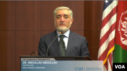 عبدالله عبدالله، رئیس اجراییۀ افغانستان در مرکز مطالعات استراتیژیک و بین المللی در واشنگتن دی سی