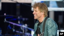 "U.S. singer Jon Bon Jovi performs on stage as part of his ""Because we can"" tour in Munich, southern Germany, May 18, 2013."