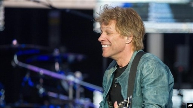 U.S. singer Jon Bon Jovi performs on stage as part of his