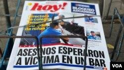 A solo dos semanas del cierre de los periódicos El Nuevo Diario y Metro, el diario Hoy, cerró su edición digital debido a problemas económicos. Foto: VOA/Donaldo Hernández.