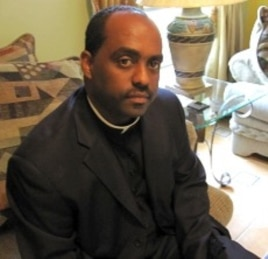 Father Reginald Jean Marie of Notre Dame d'Haiti Catholic church in Little Haiti, Miami