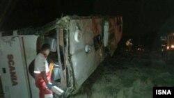 تصادف اتوبوس سربازان در نی ریز فارس.