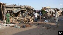 22일 나이지리아 마이두구리 시장에서 폭탄 공격이 발생했다. (자료사진)