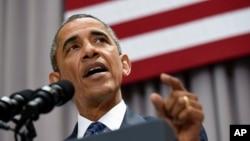 Presidente Obama dice que acuerdo nuclear con Irán está basado en la diplomacia que ganó la Guerra Fría.