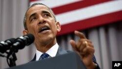 Американскиот претседател Барак Обама говори на Американскиот универзитет во Вашингтон