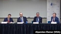 Soldan sağa: Alan Makovsky, Cenk Sidar, Halil Kareveli, Svante Cornell