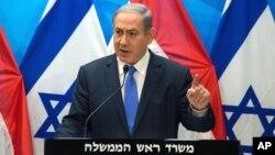 Perdana Menteri Israel, Benjamin Netanyahu akan melakukan langkah agresif menghadapi serangan dari Palestina (foto: dok).