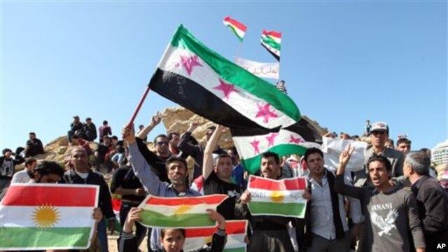 Protestoyeke Kurdên Sûrîyê