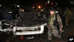 지난 3일 레바논 수도 베이루트에서 발생한 자살 폭탄 테러 현장. (자료사진)