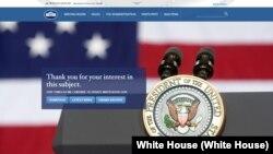 La Casa Blanca de Donald Trump aún no tiene un sitio web en español.
