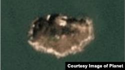 올해 9월24일 촬영된 함박도 위성사진. 섬 곳곳에 군사시설이 들어선 모습이 관측된다. 사진제공=Planet Labs Inc.