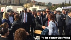 CHP MPs talked with families that wait in front of the Forensics Institute in Ankara Turkey
