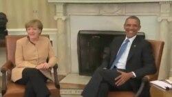 اوباما و مرکل در مورد بحران اوکراین دیدار و گفتگو می کنند