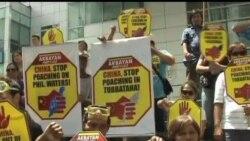 2013-04-10 美國之音視頻新聞: 菲律賓活動人士抗議中國漁船進入該國海域