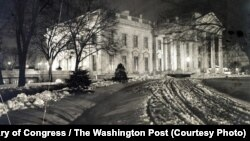 The White House on the night of Feb. 18, 1907