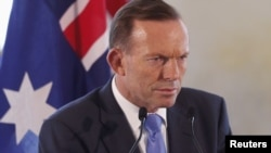 FILE - Australian PM Tony Abbott.